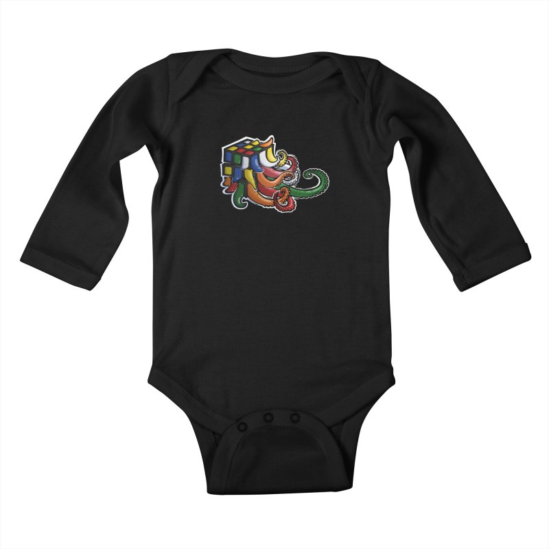Rubik's Horror Kids Baby Longsleeve Bodysuit by Marty's Artist Shop