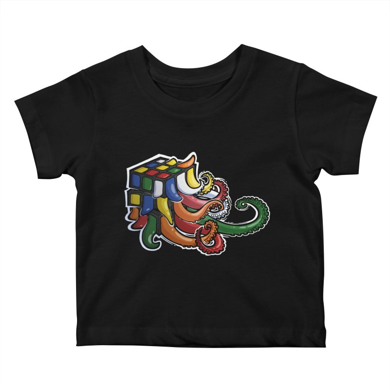 Rubik's Horror Kids Baby T-Shirt by Marty's Artist Shop
