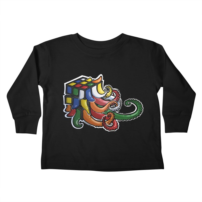 Rubik's Horror Kids Toddler Longsleeve T-Shirt by Marty's Artist Shop