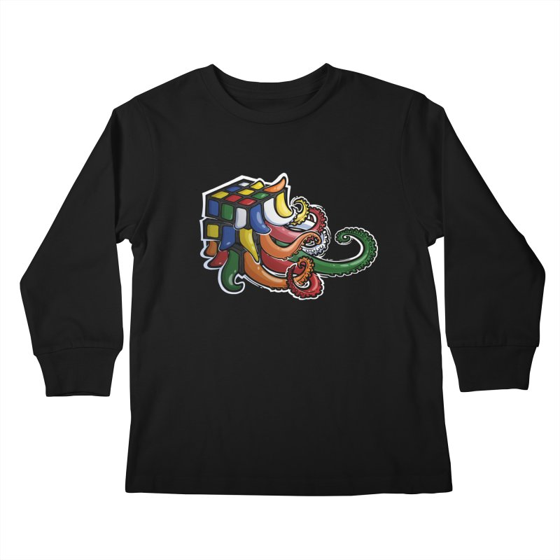 Rubik's Horror Kids Longsleeve T-Shirt by Marty's Artist Shop