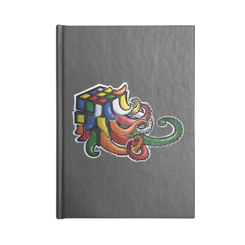 Rubik's Horror Accessories Lined Journal Notebook by Marty's Artist Shop