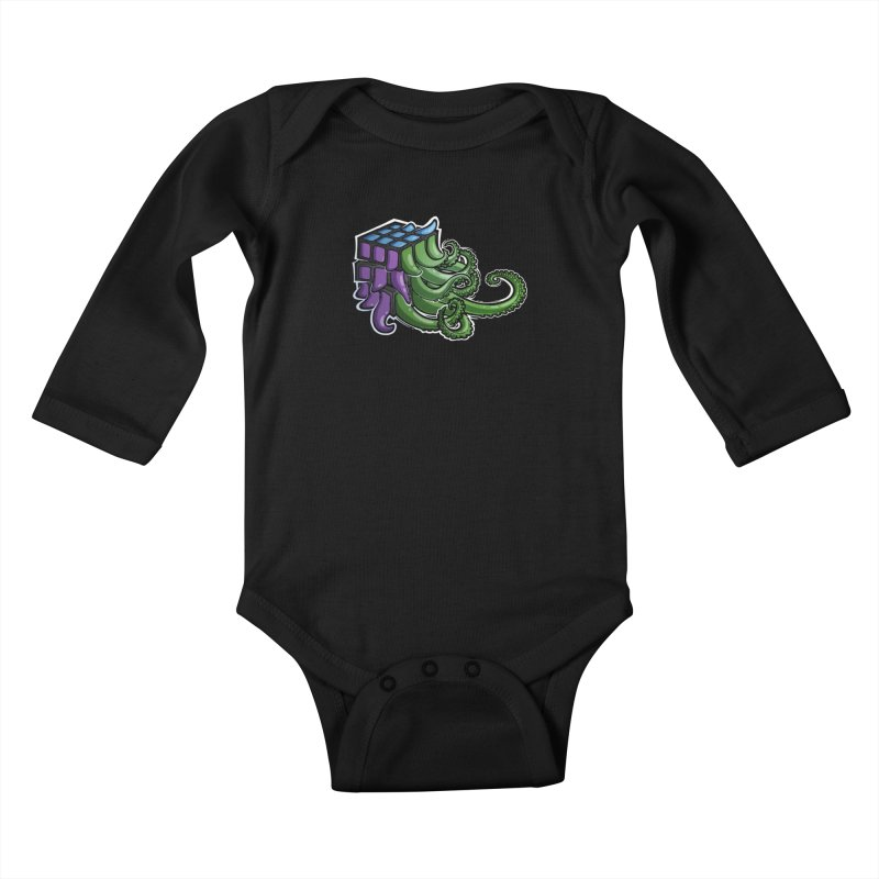 Rubik's Horror - Eldritch Edition Kids Baby Longsleeve Bodysuit by Marty's Artist Shop