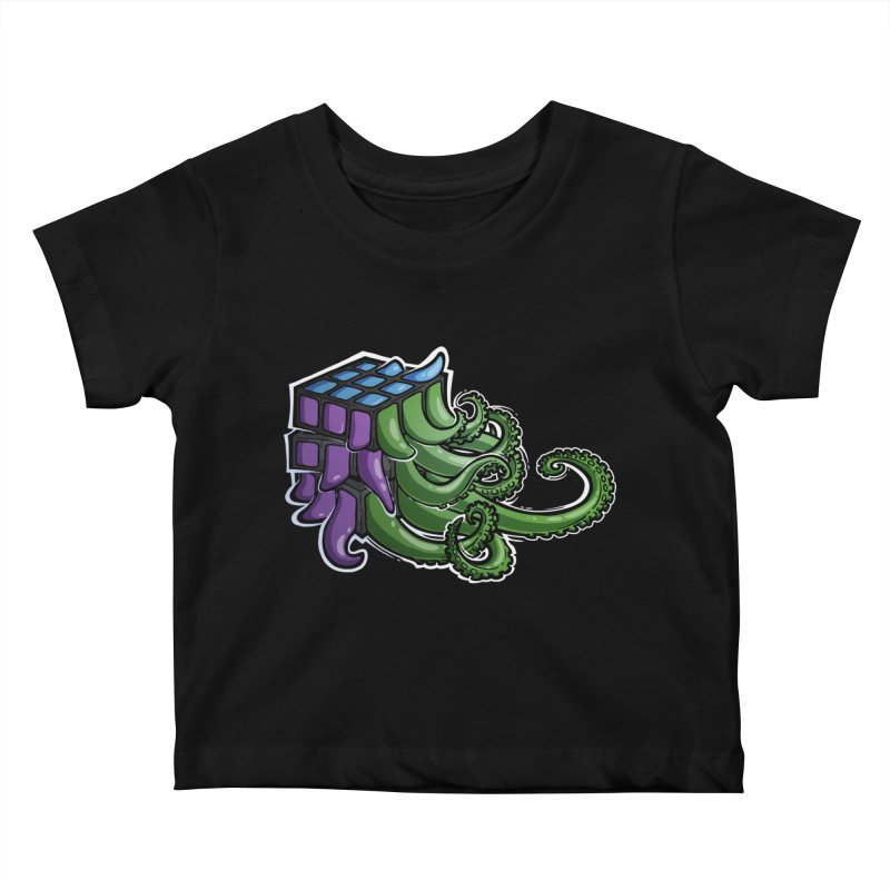 Rubik's Horror - Eldritch Edition Kids Baby T-Shirt by Marty's Artist Shop