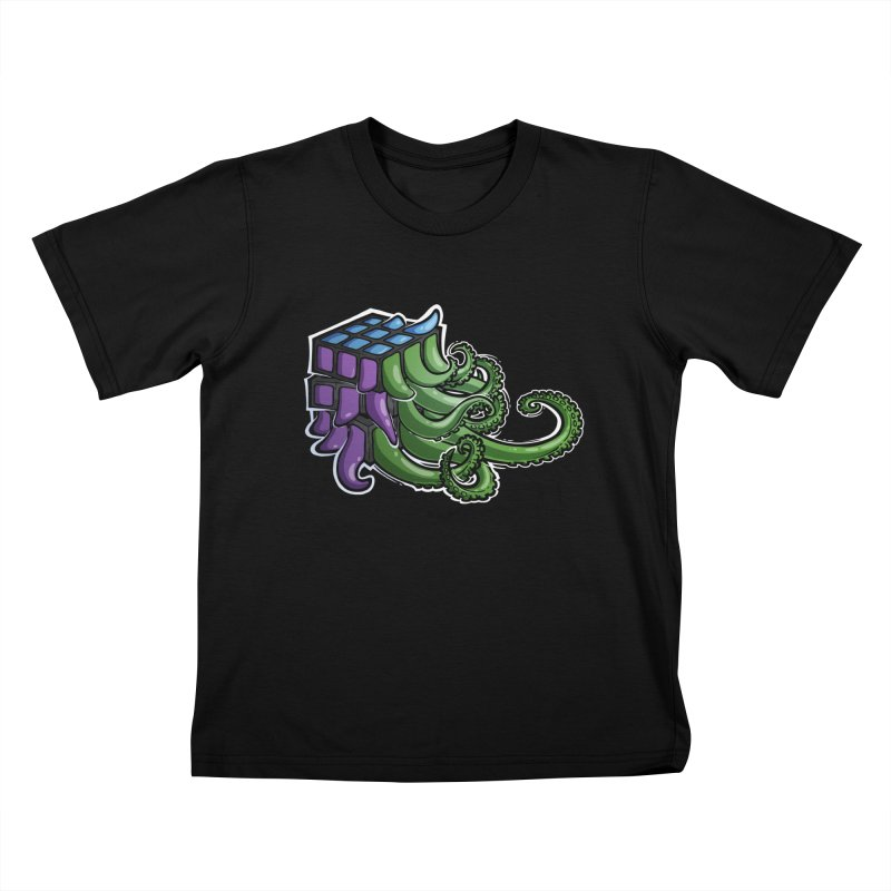 Rubik's Horror - Eldritch Edition Kids T-Shirt by Marty's Artist Shop