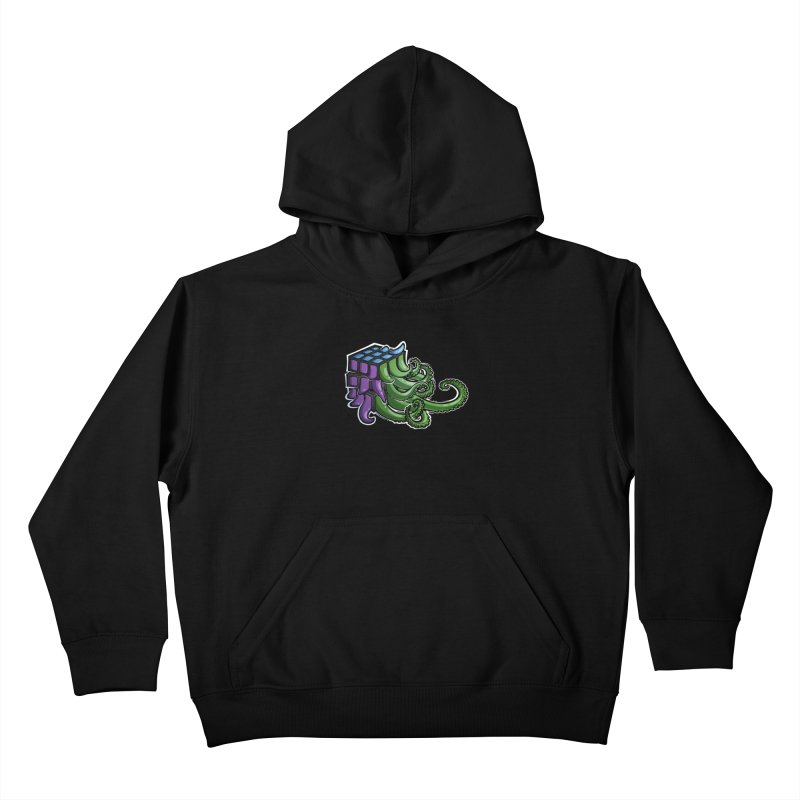 Rubik's Horror - Eldritch Edition Kids Pullover Hoody by Marty's Artist Shop