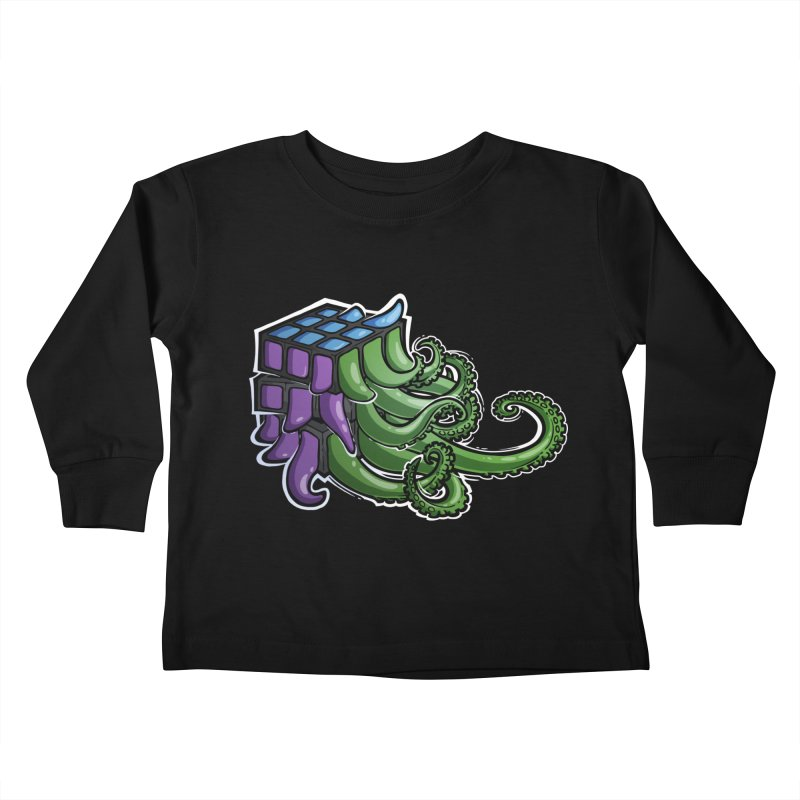 Rubik's Horror - Eldritch Edition Kids Toddler Longsleeve T-Shirt by Marty's Artist Shop
