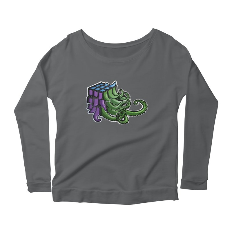Rubik's Horror - Eldritch Edition Women's Longsleeve Scoopneck  by Marty's Artist Shop