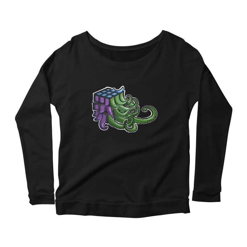 Rubik's Horror - Eldritch Edition Women's Scoop Neck Longsleeve T-Shirt by Marty's Artist Shop