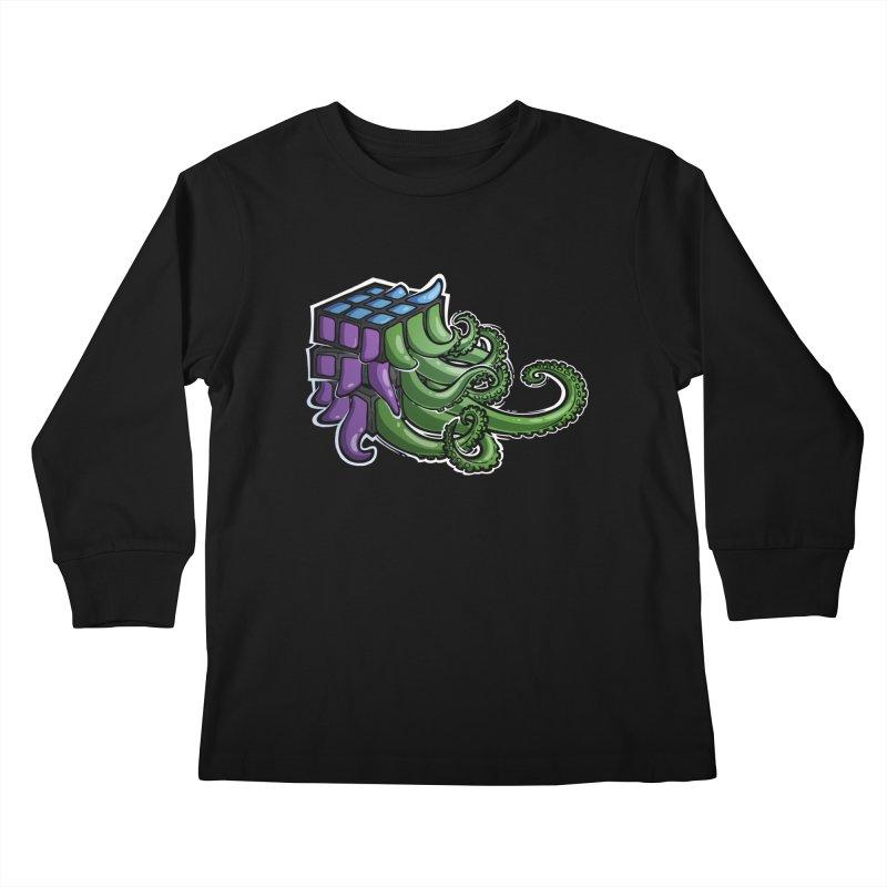 Rubik's Horror - Eldritch Edition Kids Longsleeve T-Shirt by Marty's Artist Shop