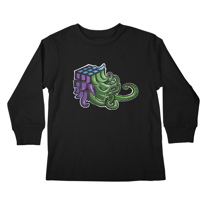 Rubik's Horror - Eldritch Edition Kids Longsleeve T-Shirt by Marty's Artist Shop