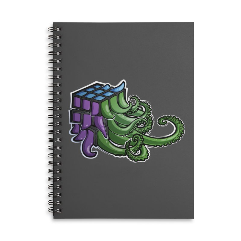 Rubik's Horror - Eldritch Edition Accessories Lined Spiral Notebook by Marty's Artist Shop