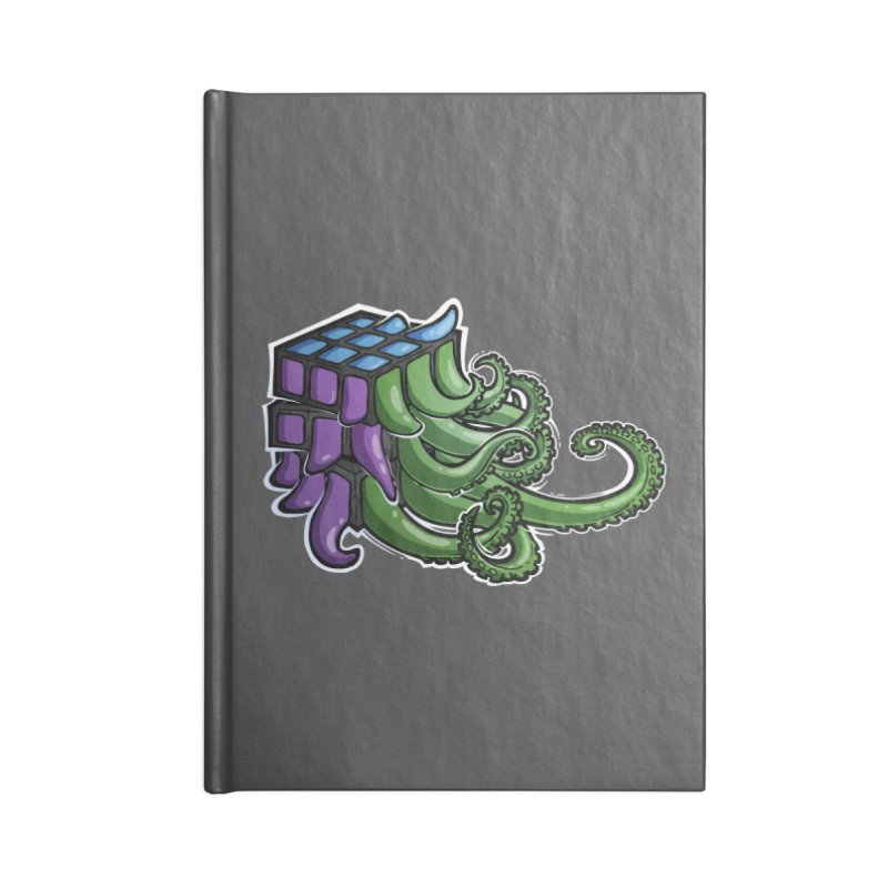 Rubik's Horror - Eldritch Edition Accessories Lined Journal Notebook by Marty's Artist Shop