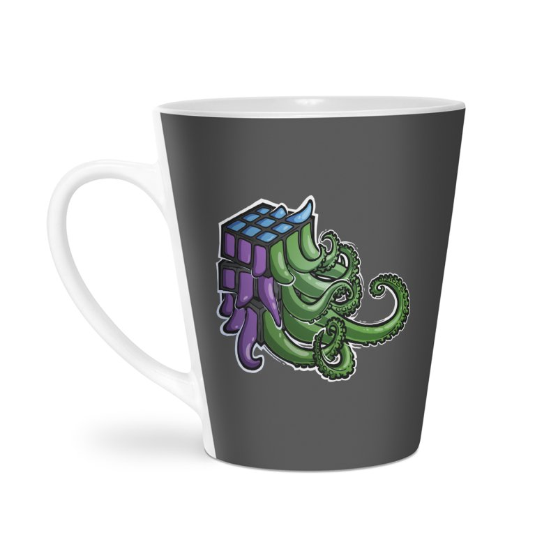 Rubik's Horror - Eldritch Edition Accessories Latte Mug by Marty's Artist Shop