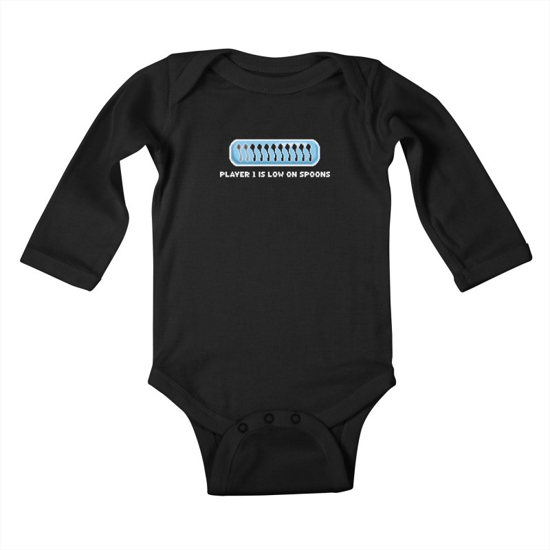 Low On Spoons Kids Baby Longsleeve Bodysuit by Marty's Artist Shop