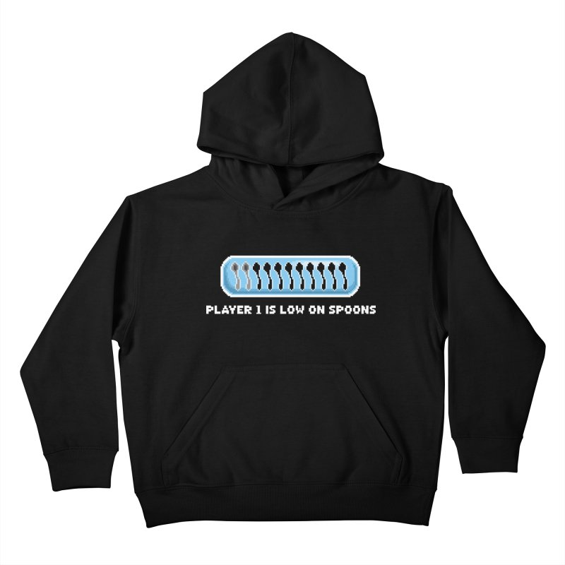 Low On Spoons Kids Pullover Hoody by Marty's Artist Shop