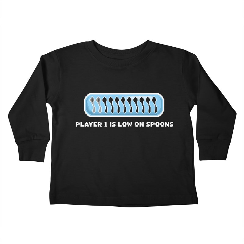 Low On Spoons Kids Toddler Longsleeve T-Shirt by Marty's Artist Shop