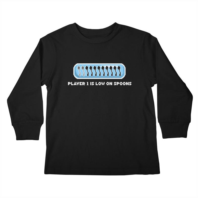 Low On Spoons Kids Longsleeve T-Shirt by Marty's Artist Shop