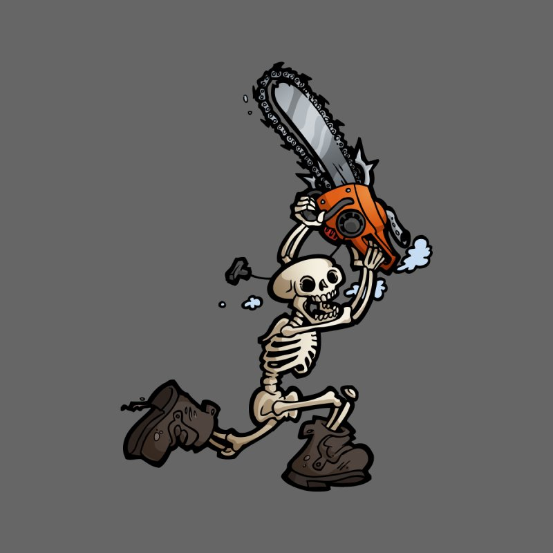 Chainsaw Skeleton by Marty's Artist Shop