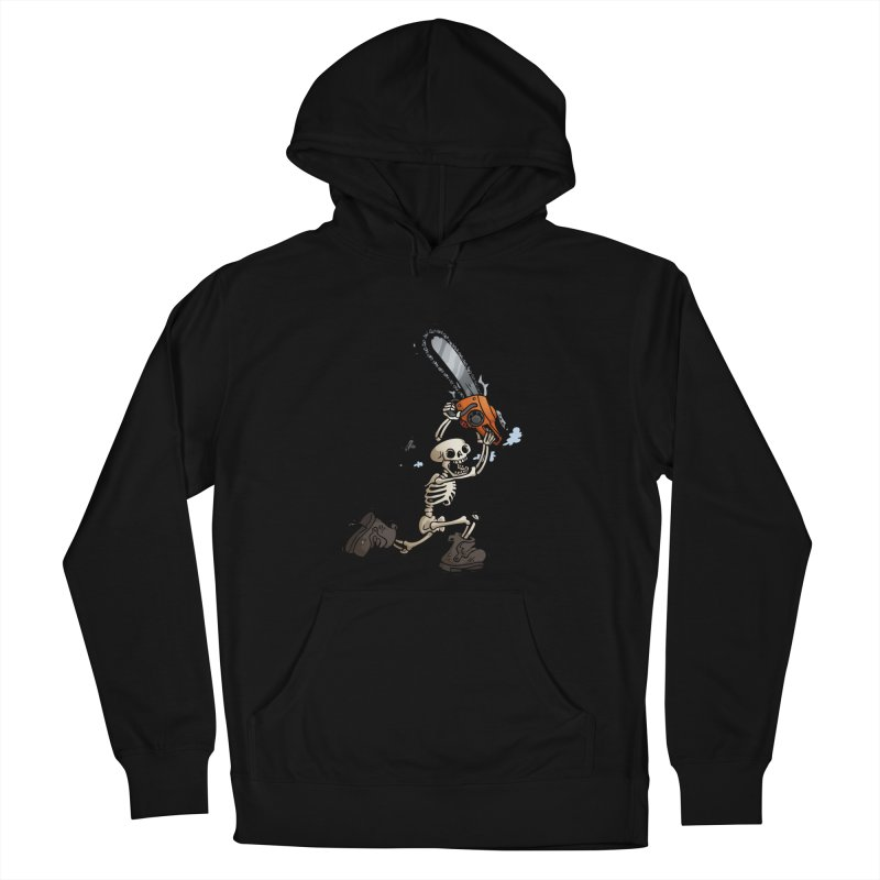 Chainsaw Skeleton Men's French Terry Pullover Hoody by Marty's Artist Shop