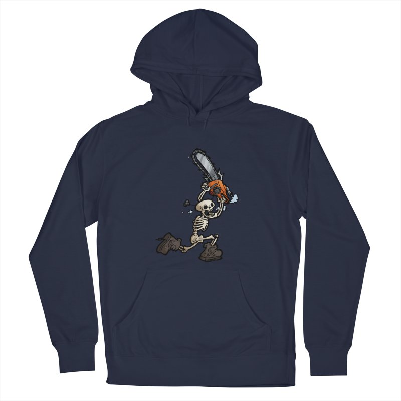 Chainsaw Skeleton Men's Pullover Hoody by Marty's Artist Shop