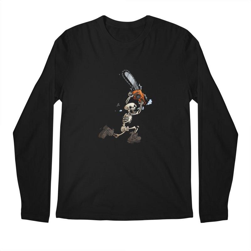 Chainsaw Skeleton Men's Regular Longsleeve T-Shirt by Marty's Artist Shop