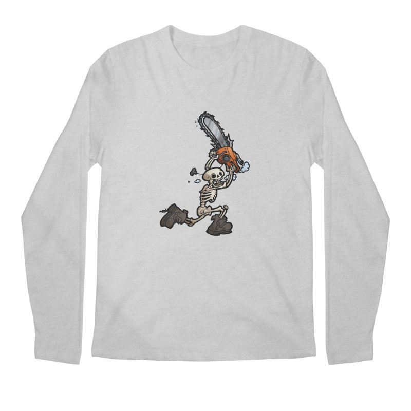 Chainsaw Skeleton Men's Regular Longsleeve T-Shirt by Marty's Artist Shop