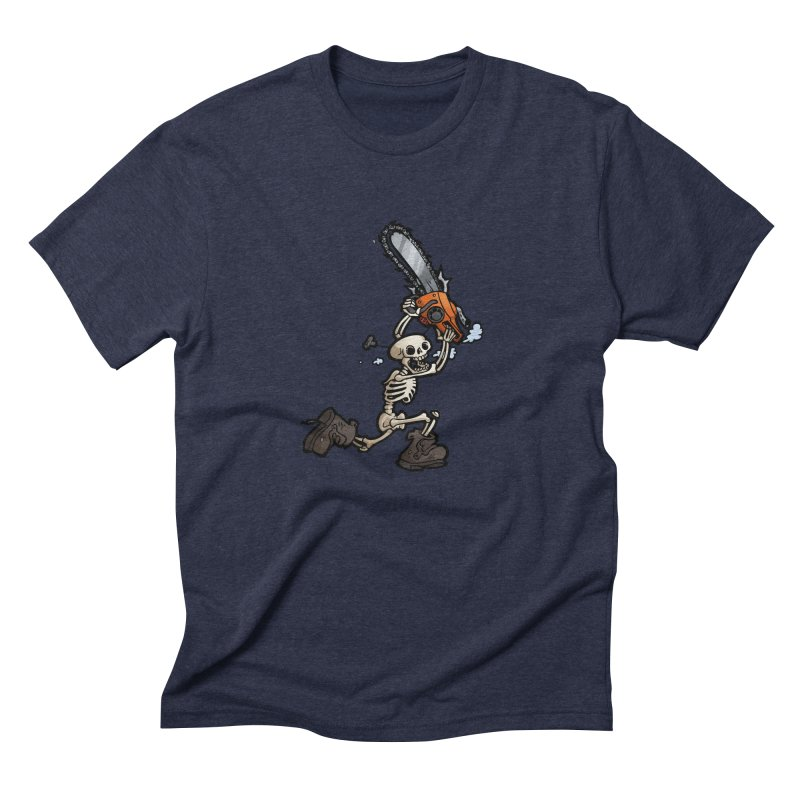 Chainsaw Skeleton Men's Triblend T-Shirt by Marty's Artist Shop