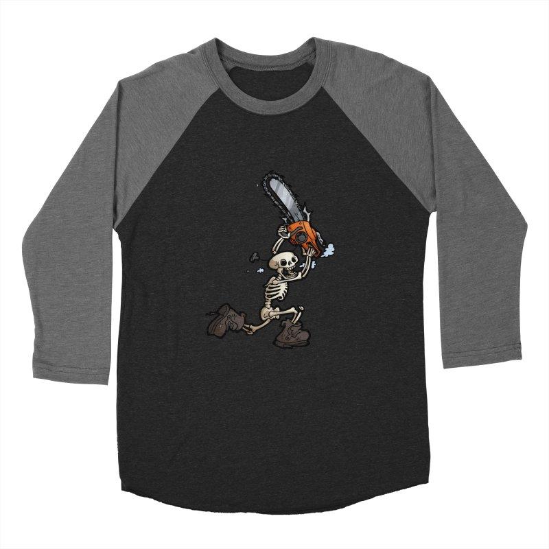 Chainsaw Skeleton Women's Baseball Triblend Longsleeve T-Shirt by Marty's Artist Shop