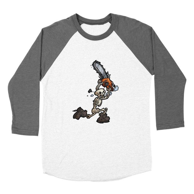 Chainsaw Skeleton Men's Baseball Triblend Longsleeve T-Shirt by Marty's Artist Shop
