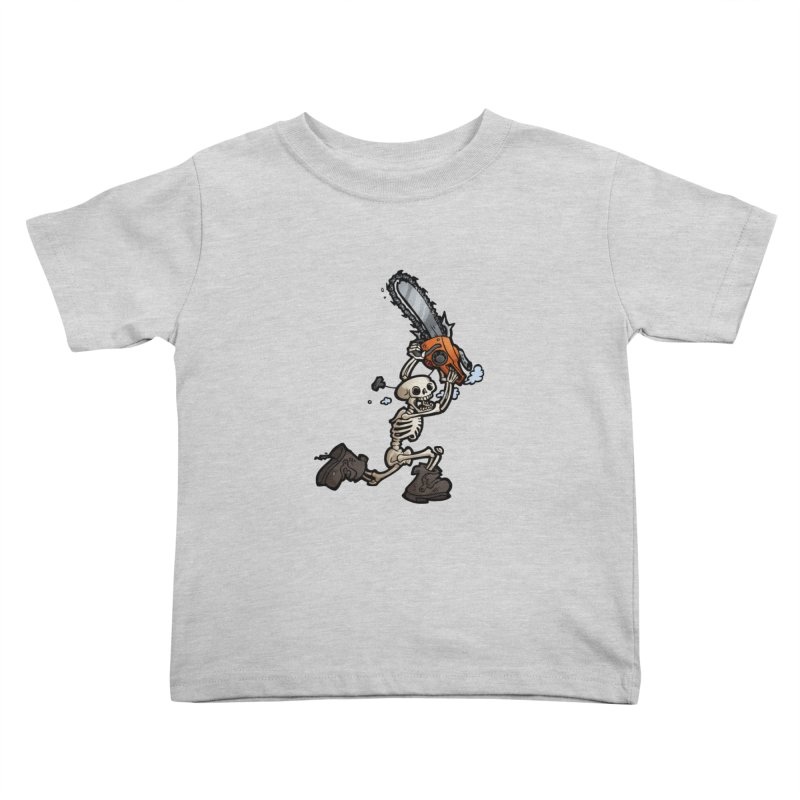 Chainsaw Skeleton Kids Toddler T-Shirt by Marty's Artist Shop