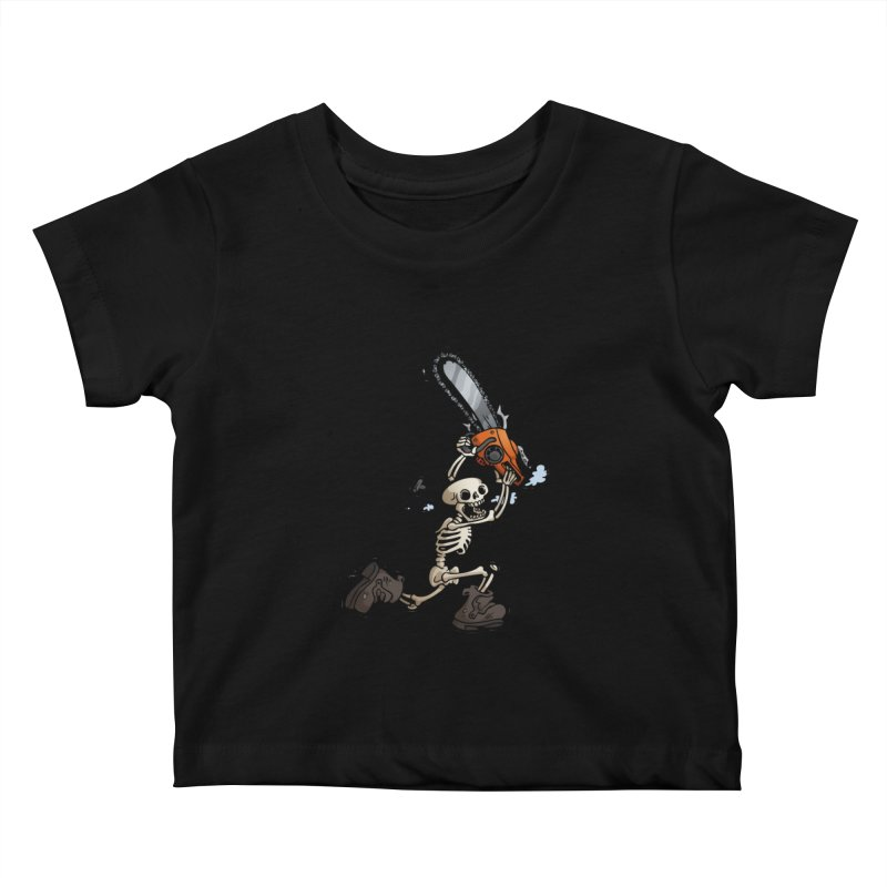 Chainsaw Skeleton Kids Baby T-Shirt by Marty's Artist Shop