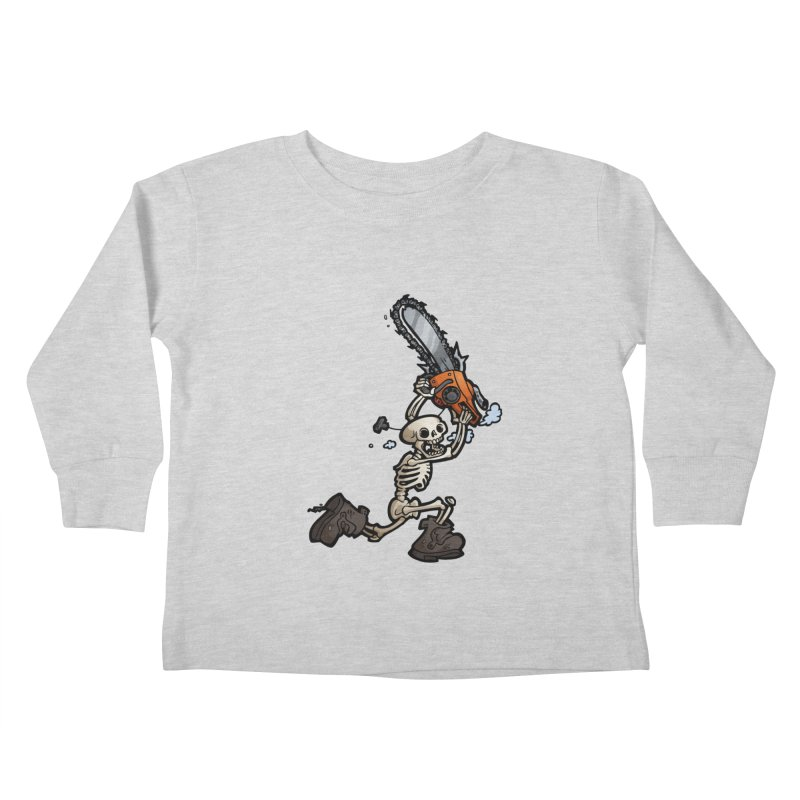 Chainsaw Skeleton Kids Toddler Longsleeve T-Shirt by Marty's Artist Shop