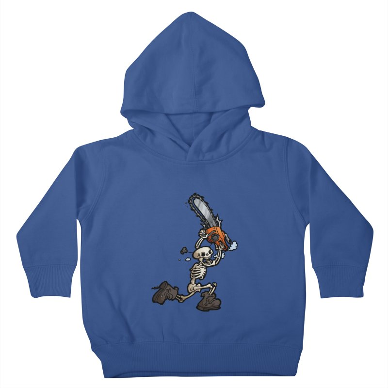 Chainsaw Skeleton Kids Toddler Pullover Hoody by Marty's Artist Shop