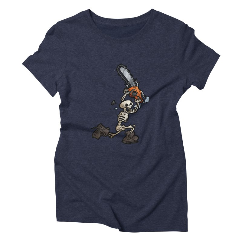 Chainsaw Skeleton Women's Triblend T-Shirt by Marty's Artist Shop