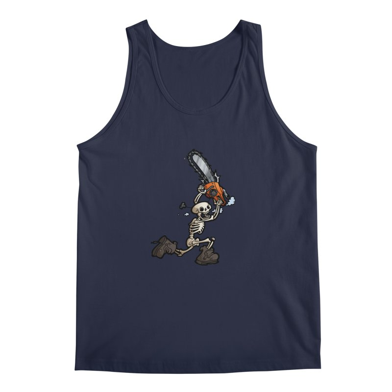 Chainsaw Skeleton Men's Regular Tank by Marty's Artist Shop