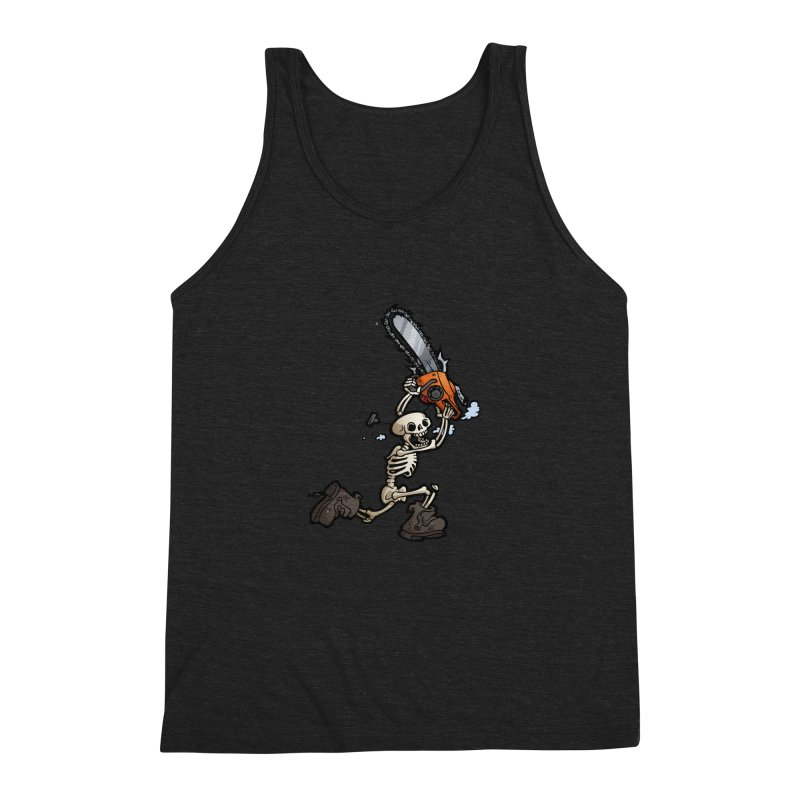 Chainsaw Skeleton Men's Triblend Tank by Marty's Artist Shop