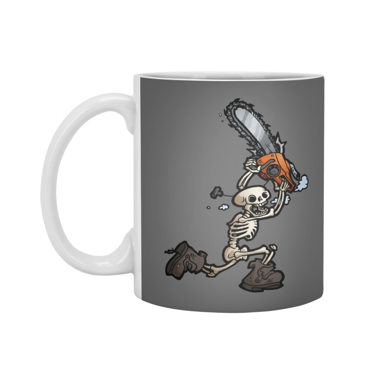 Chainsaw Skeleton Accessories Standard Mug by Marty's Artist Shop