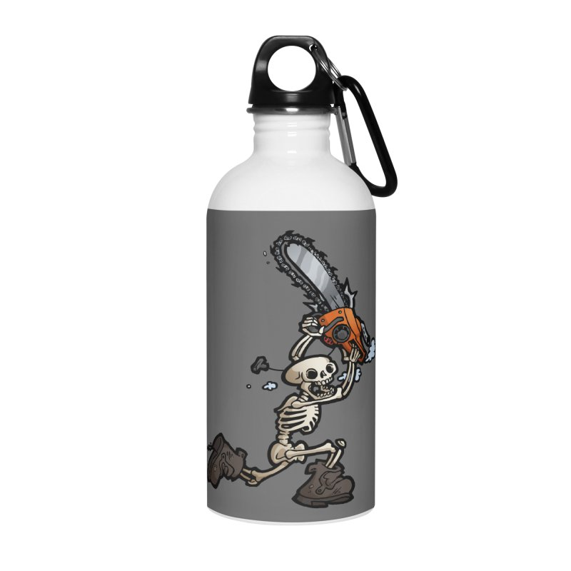 Chainsaw Skeleton Accessories Water Bottle by Marty's Artist Shop