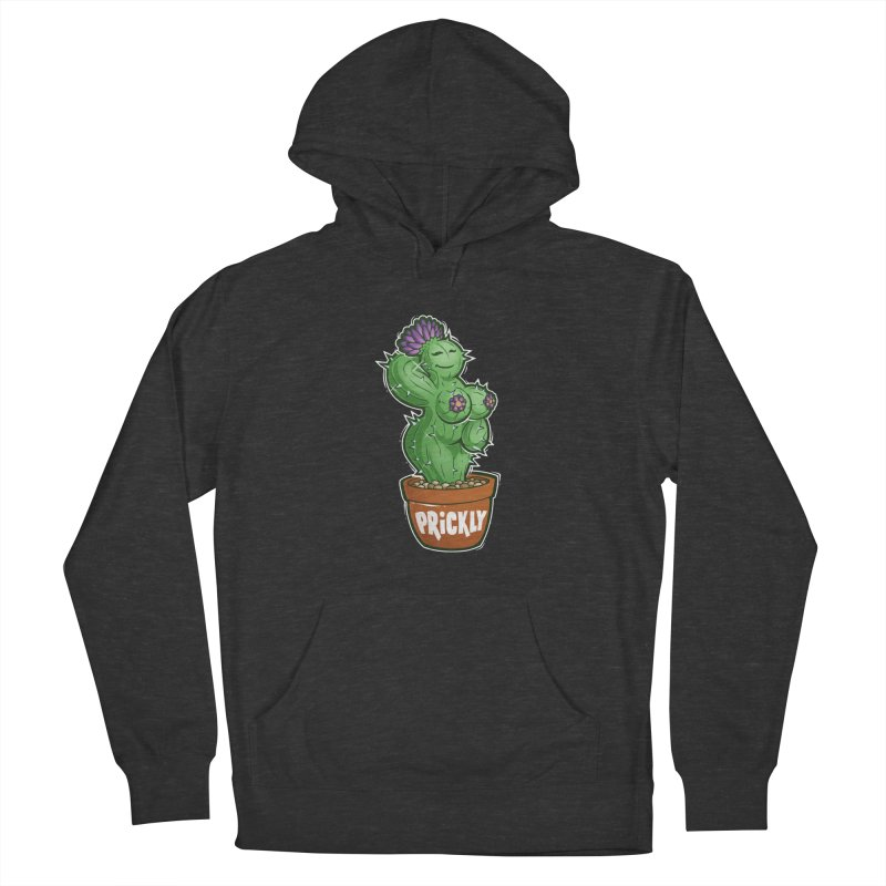 Prickly Men's French Terry Pullover Hoody by Marty's Artist Shop