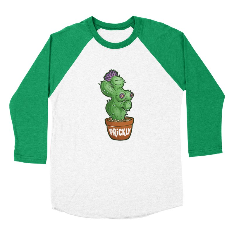 Prickly Women's Baseball Triblend Longsleeve T-Shirt by Marty's Artist Shop