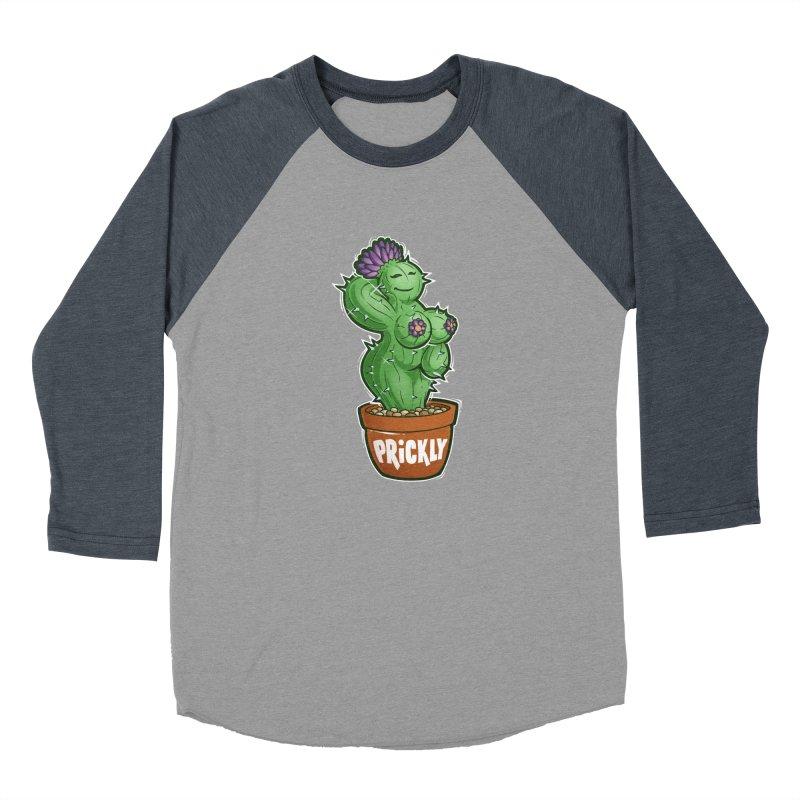 Prickly Women's Baseball Triblend Longsleeve T-Shirt by Marty's Artist Shop