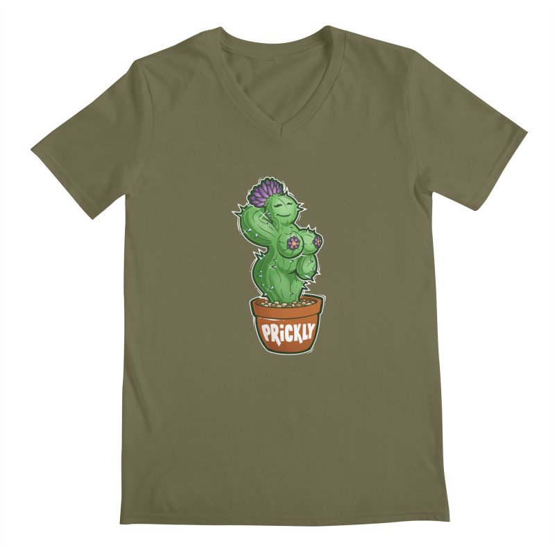 Prickly Men's V-Neck by Marty's Artist Shop