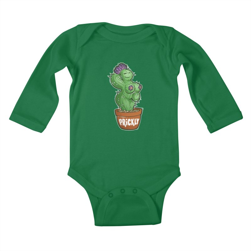 Prickly Kids Baby Longsleeve Bodysuit by Marty's Artist Shop
