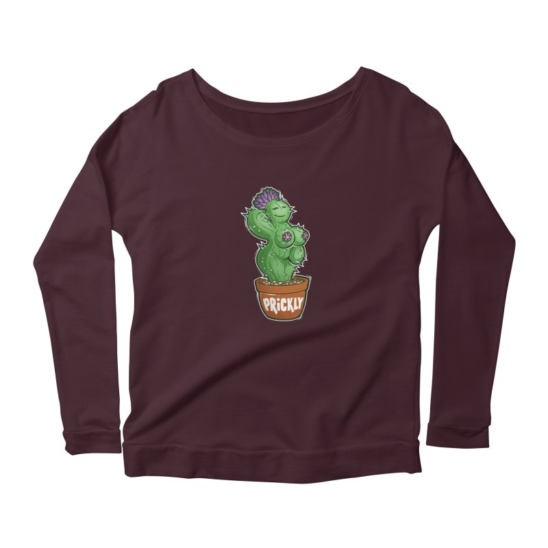 Prickly Women's Scoop Neck Longsleeve T-Shirt by Marty's Artist Shop