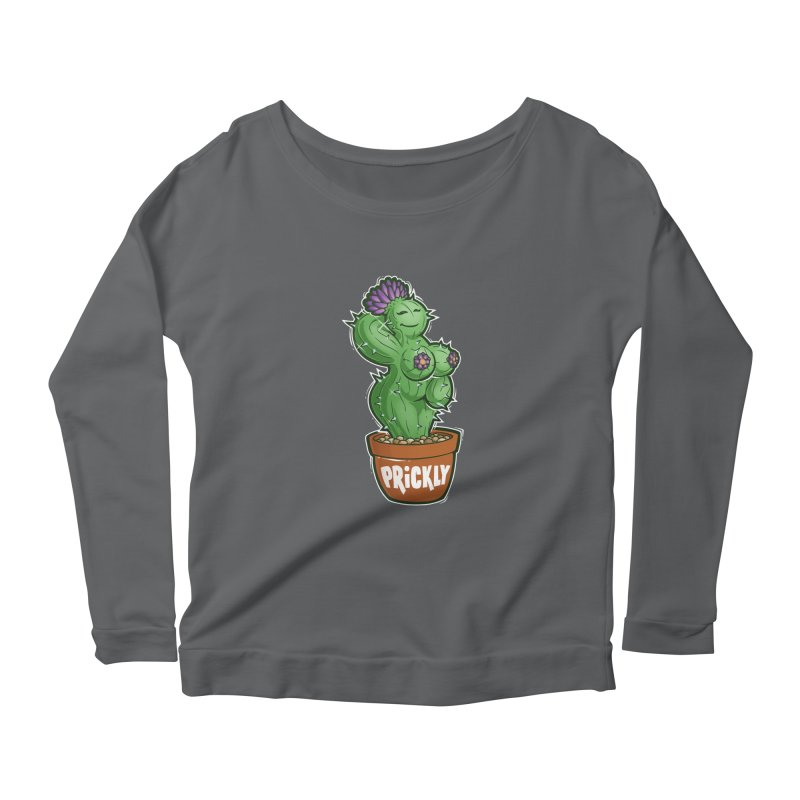 Prickly Women's Scoop Neck Longsleeve T-Shirt by Marty's Artist Shop