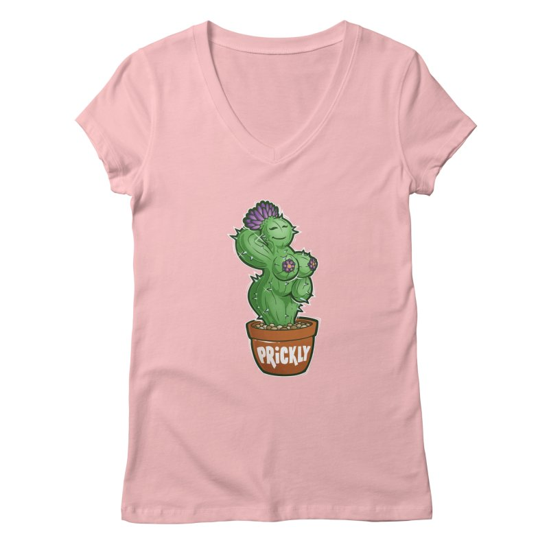 Prickly Women's Regular V-Neck by Marty's Artist Shop