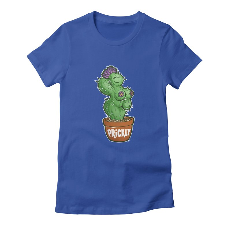 Prickly Women's Fitted T-Shirt by Marty's Artist Shop