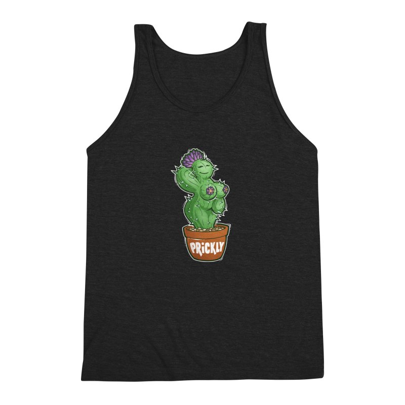 Prickly Men's Triblend Tank by Marty's Artist Shop
