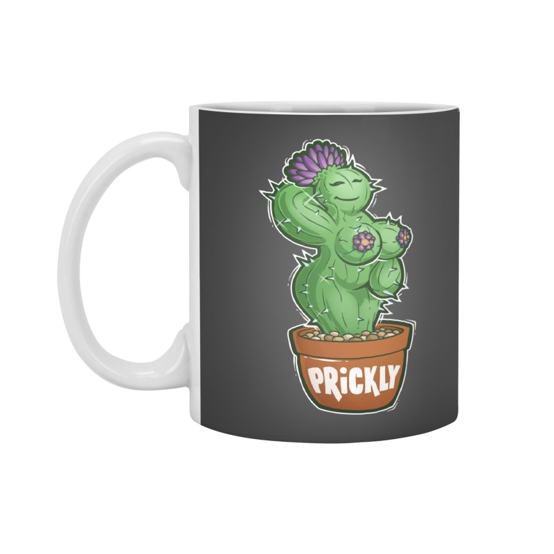 Prickly Accessories Standard Mug by Marty's Artist Shop