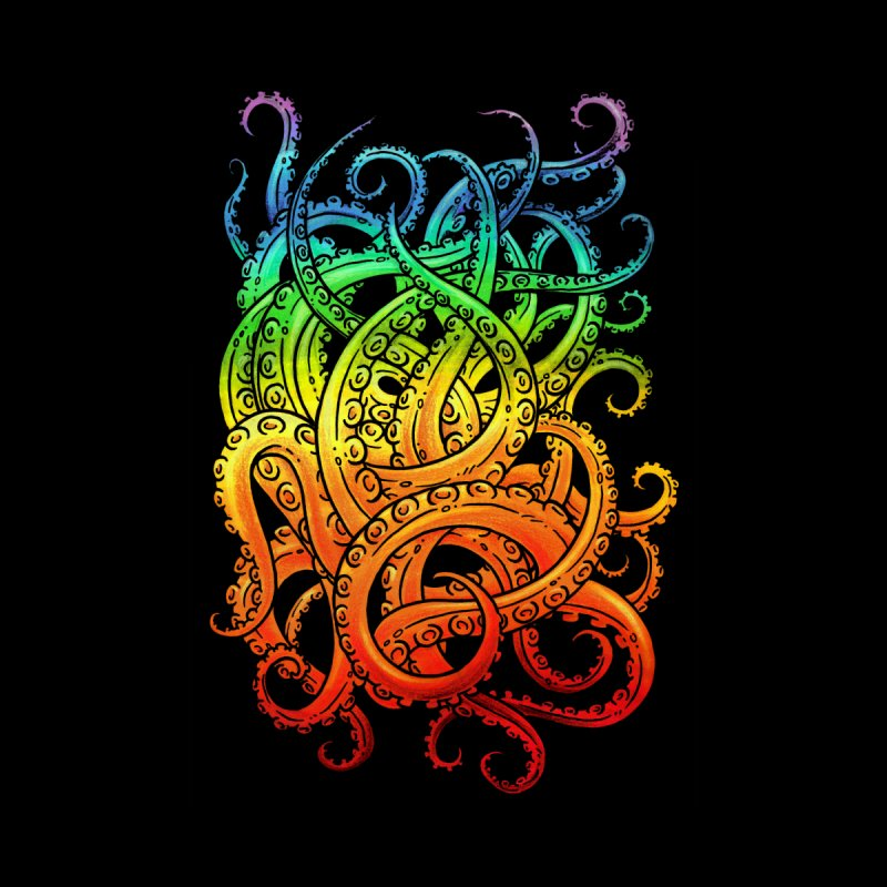 Rainbow Tentacles Home Fine Art Print by Marty's Artist Shop